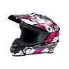 Tenacity Youth Moto Helmet with Removable Liner, Pink - Image 2 of 4