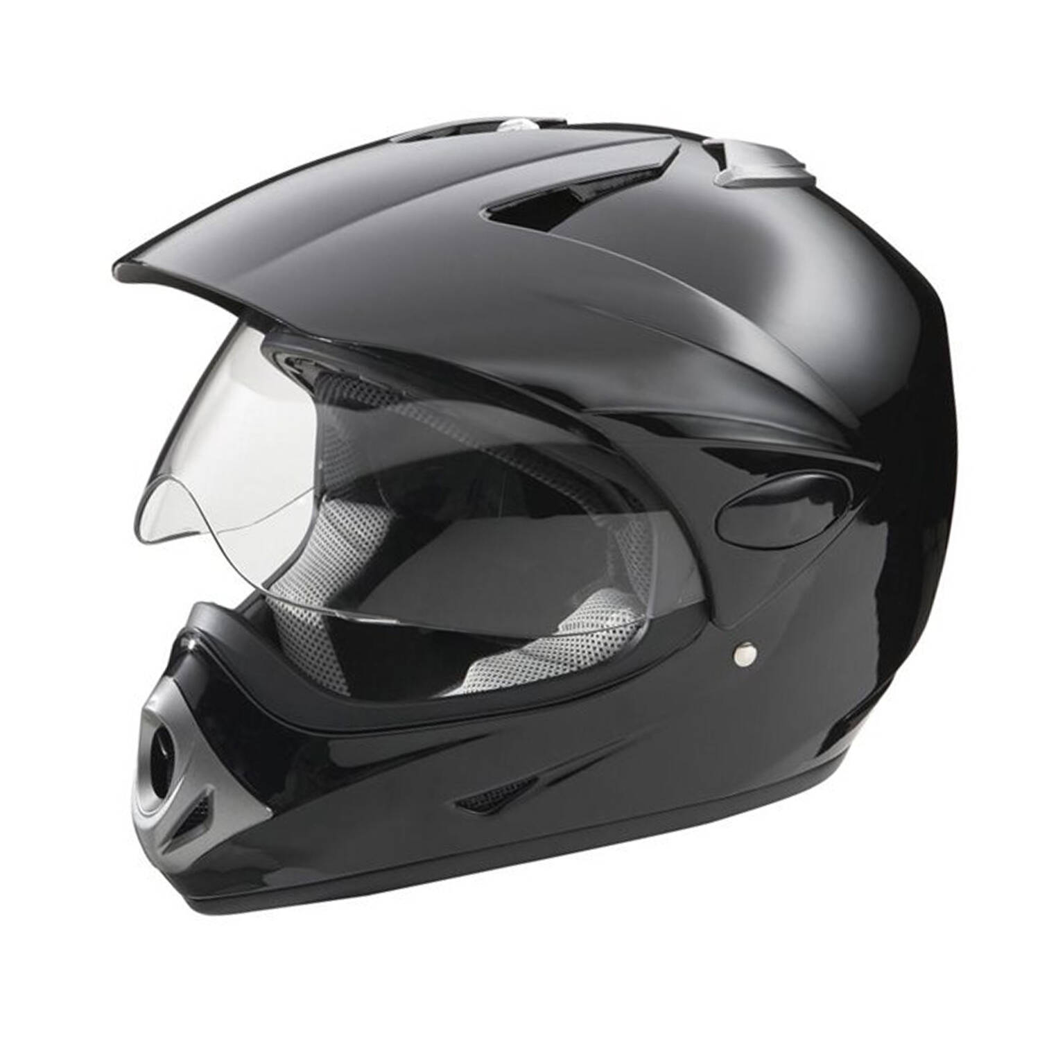 KTP Adult Full-Face Helmet with Scratch-Resistant Shield, Black