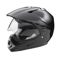 KTP Adult Full-Face Helmet with Scratch-Resistant Shield, Black
