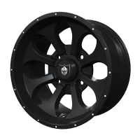 Pro Armor® Wheel: Knight - Matte Black - Front - 15""