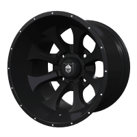 Pro Armor® Wheel: Knight - Matte Black - Rear - 15""
