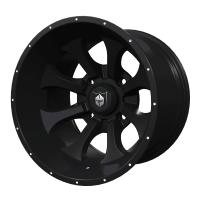 Pro Armor® Knight Wheel, Matte Black Rear R15