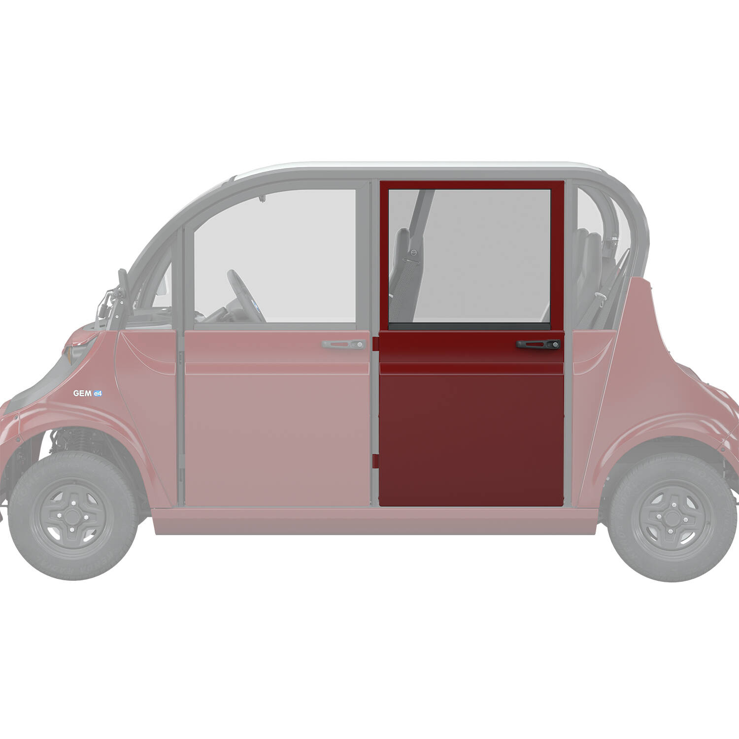 Full Middle/Rear Door Left, Red
