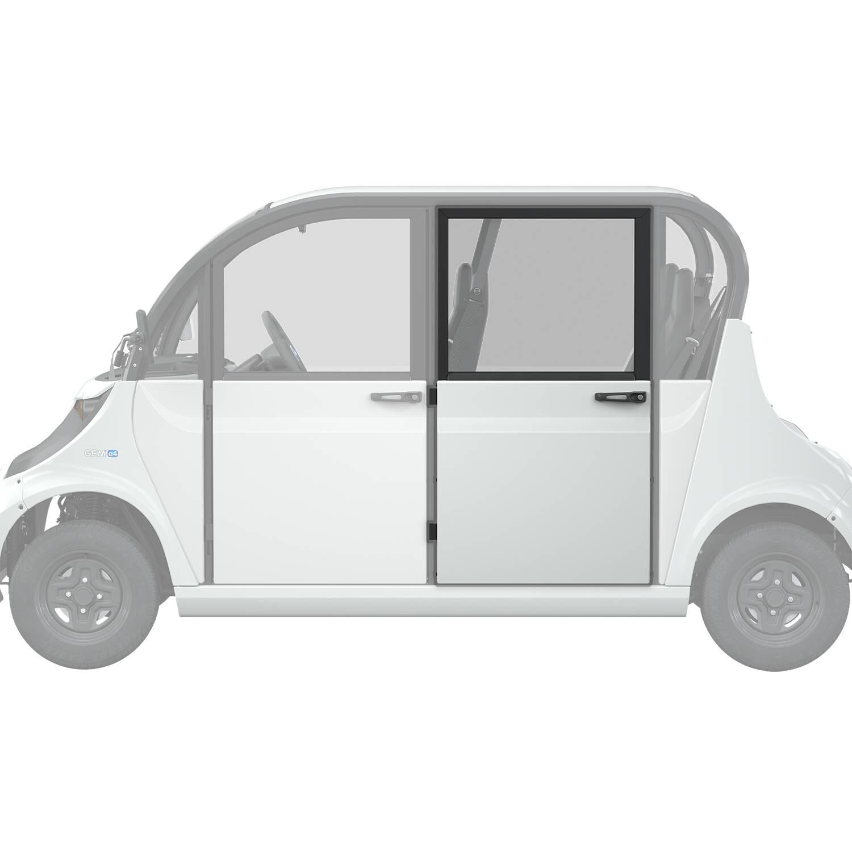Full Middle/Rear Door Left, White