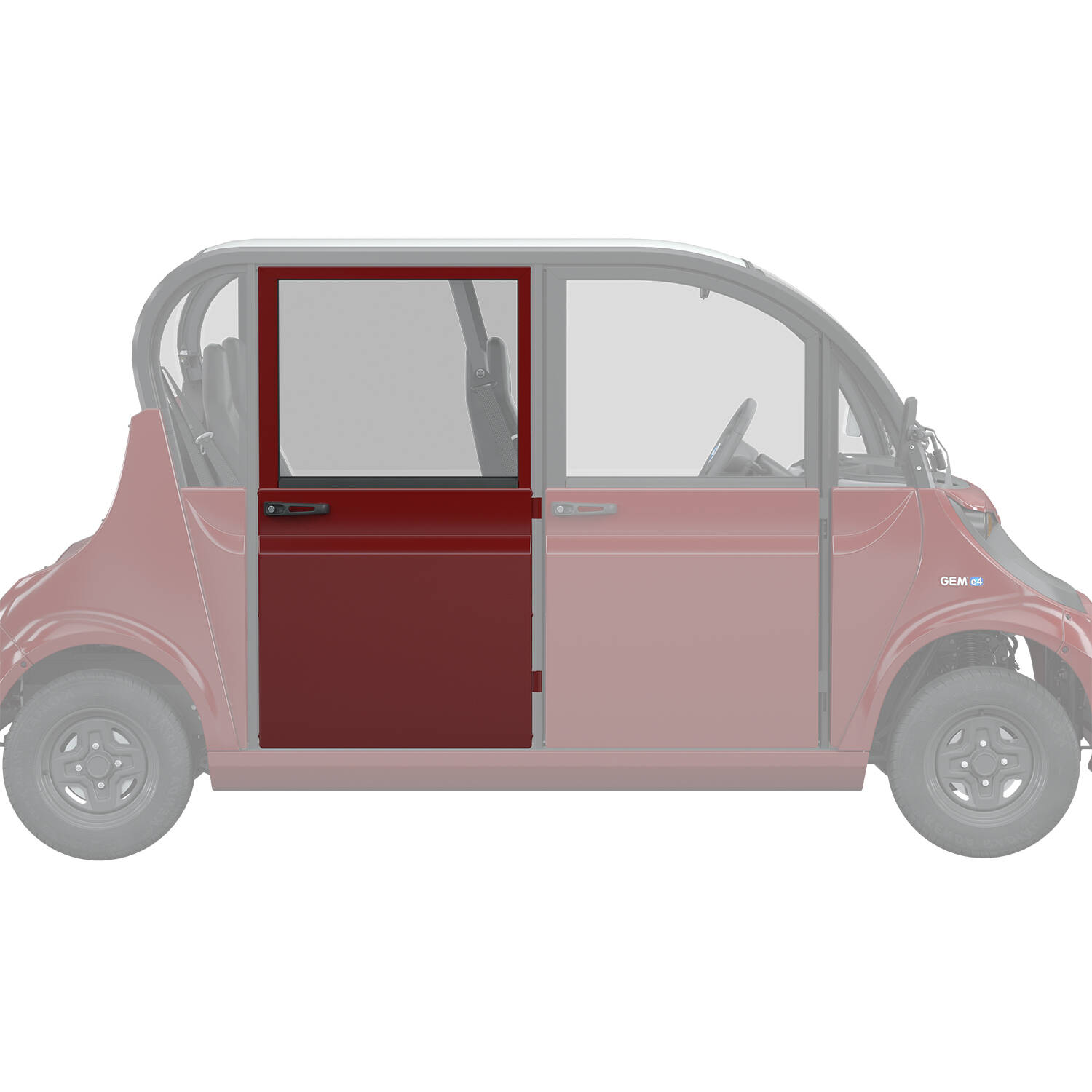 Full Middle/Rear Door Right, Red