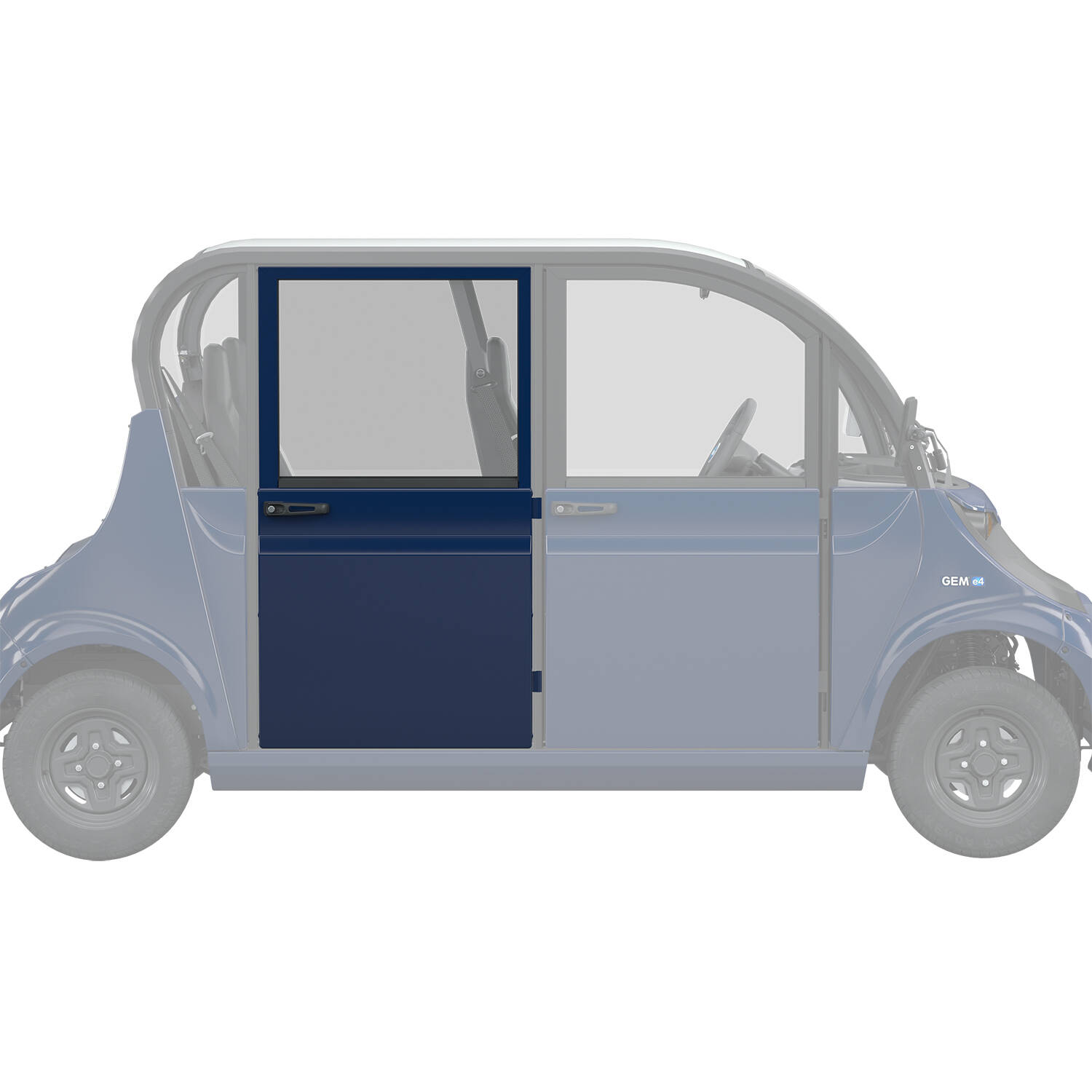 Full Middle/Rear Door Right, Blue