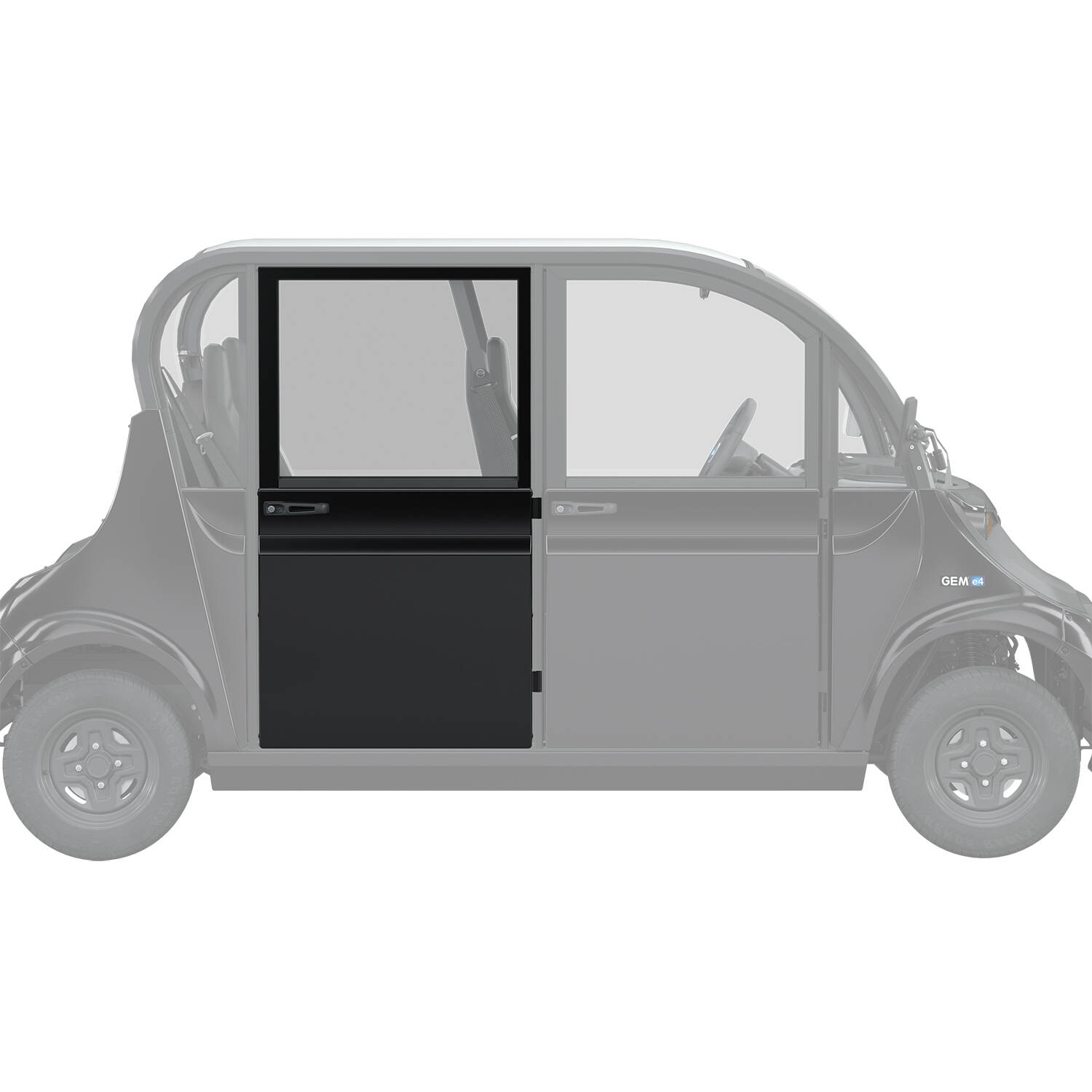 Full Middle/Rear Door Right, Black