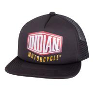 Camo Logo Trucker Hat, Black