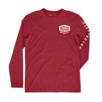 Men's Long-Sleeve Shield Logo T-Shirt, Red