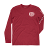 Men's Long-Sleeve T-Shirt with Shield Logo, Red - Image 2 de 4