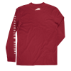 Men's Long-Sleeve T-Shirt with Shield Logo, Red - Image 4 of 4