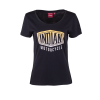 Women's T-Shirt with Gradient Logo, Black - Image 2 of 3