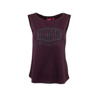 Women's Shield Muscle Tank Top, Red