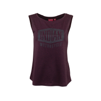 Women's Muscle Tank Top with Shield Logo, Port