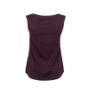 Women's Muscle Tank Top with Shield Logo, Port - Image 2 of 3