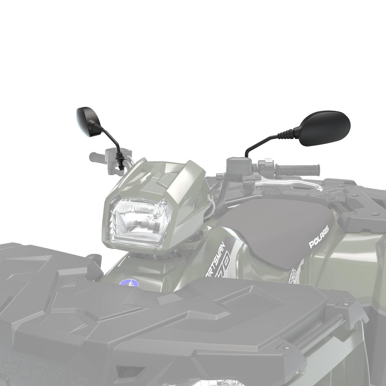 Handlebar-Mounted Adjustable Mirrors in Black, 2 Pack