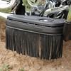 Genuine Leather Floorboard Trim with Fringe in Black, Pair - Image 2 de 2