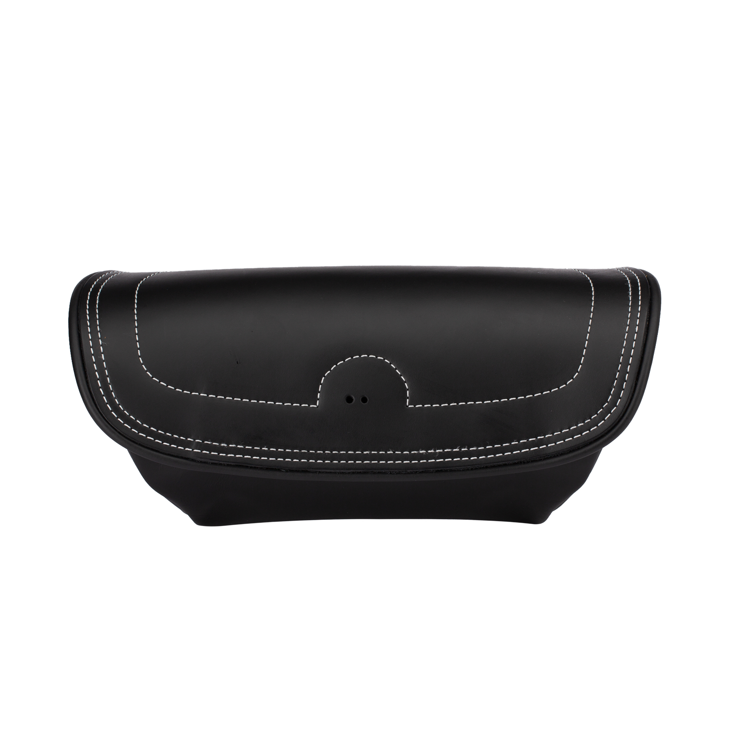 Genuine Leather Handlebar Bag - Black