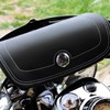 Genuine Leather Handlebar Bag, Black - Image 4 de 4