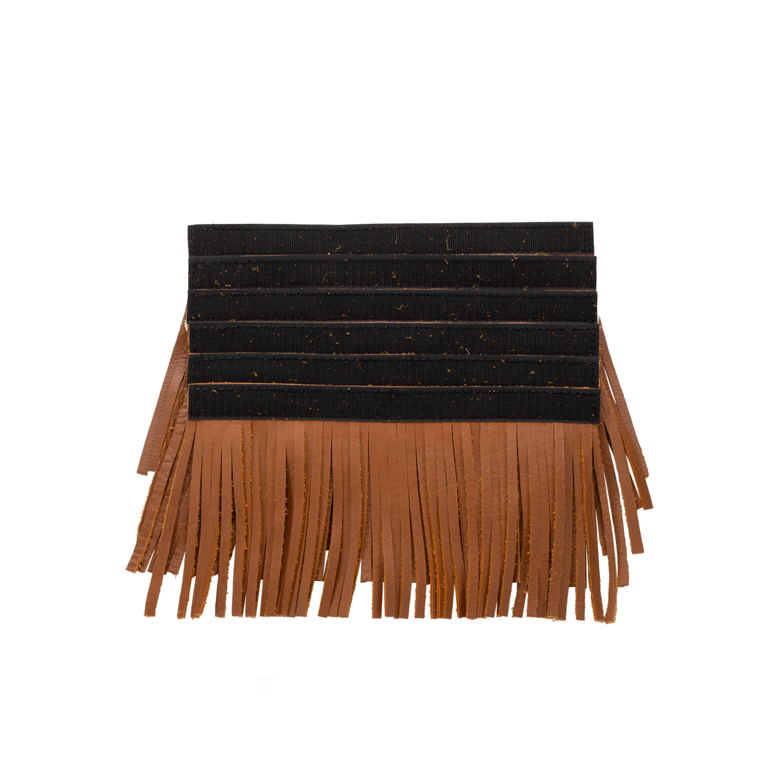 genuine leather upper saddlebag fringe
