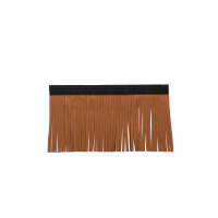 Genuine Leather Upper Saddlebag Fringe - Desert Tan