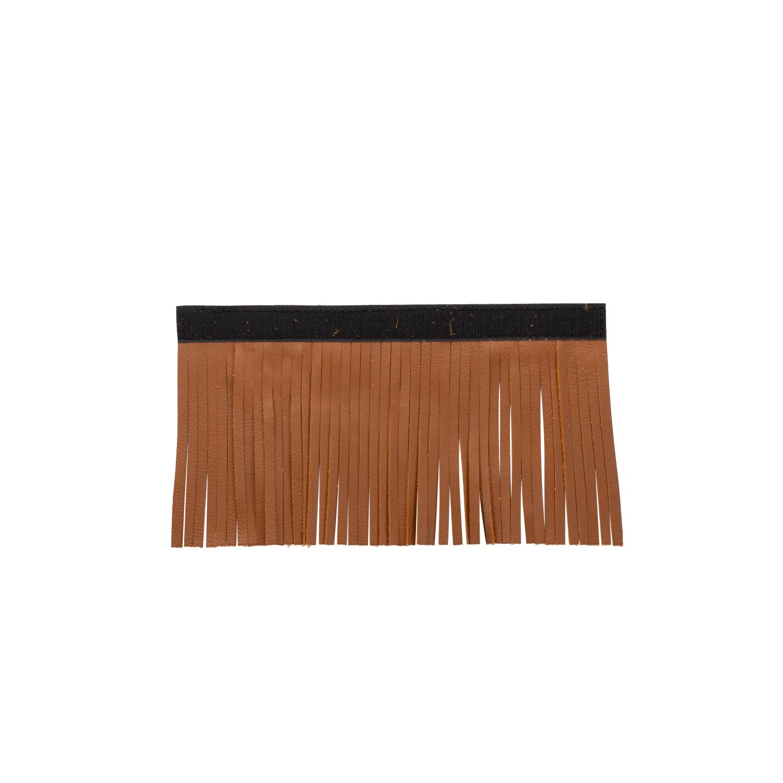 Genuine Leather Upper Saddlebag Fringe - Desert Tan