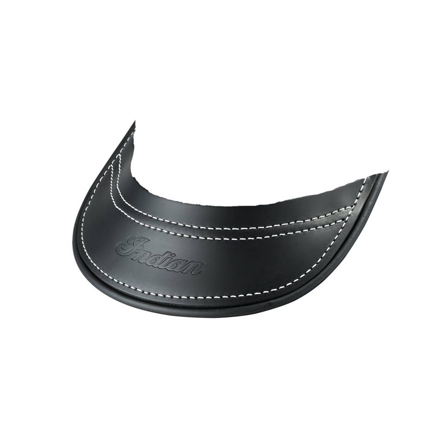 Genuine Leather Front Mud Flap - Black