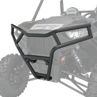 Deluxe 1.5 in. Diameter Steel Front Bumper, Black