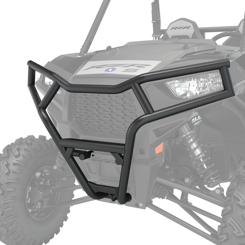 Deluxe 1.5 in. Diameter Steel Front Bumper, Black