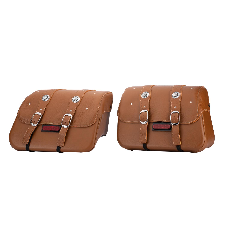 Genuine Leather Saddlebags - Desert Tan
