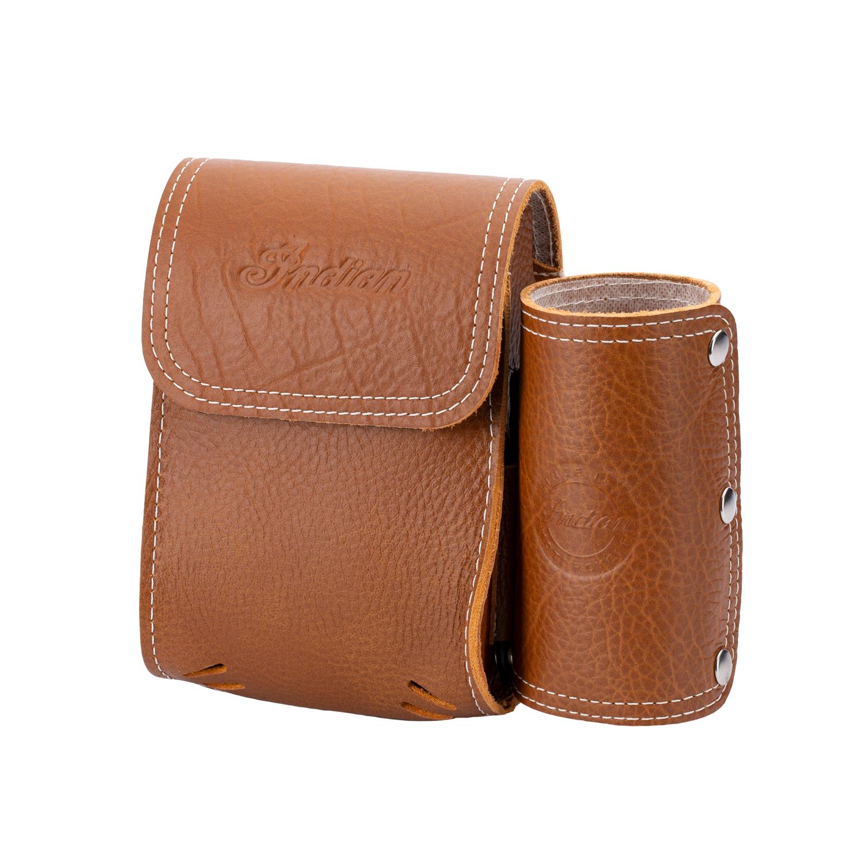 Genuine Leather Rear Highway Bar Bag - Desert Tan