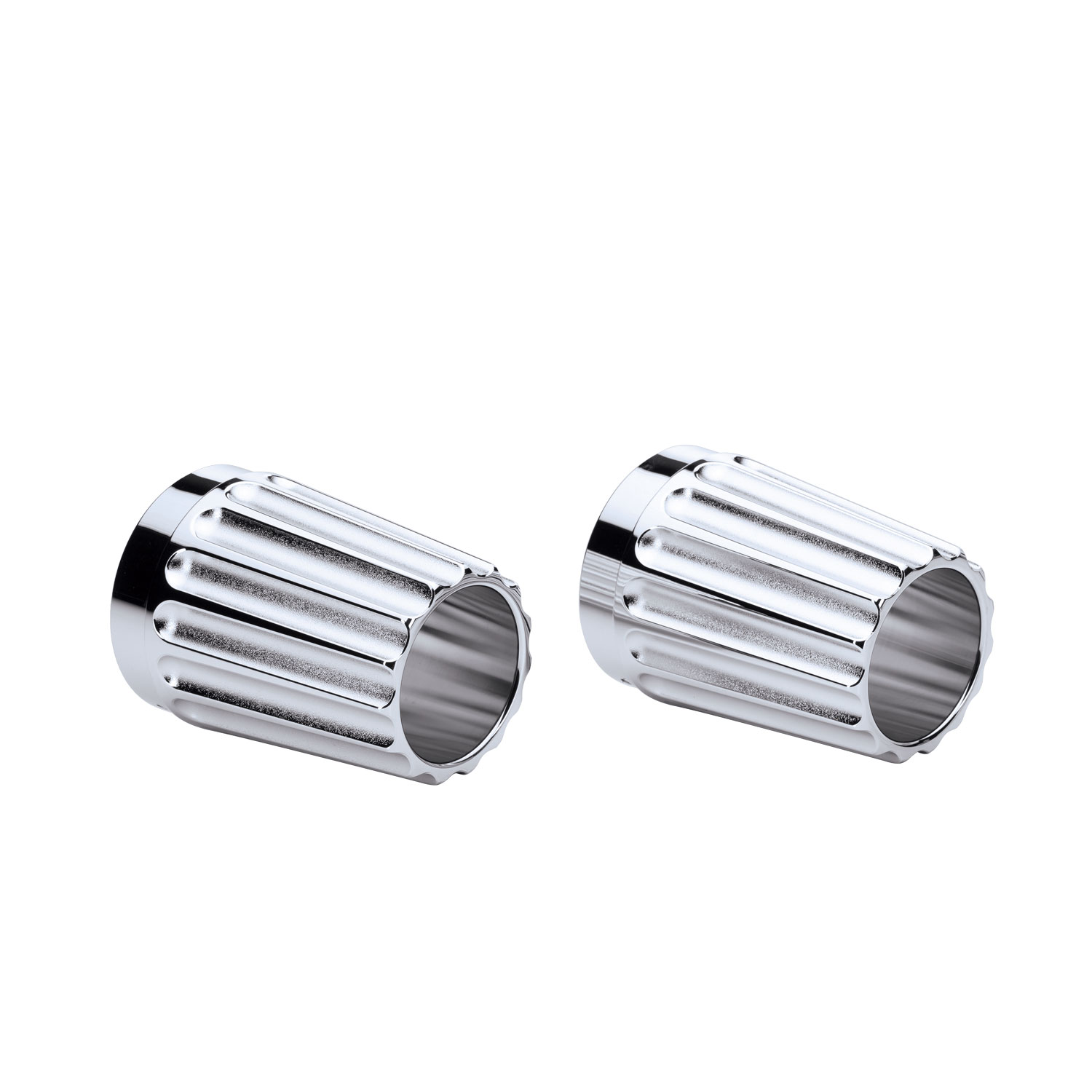 Grooved Exhaust Tips - Chrome