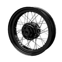 Front Laced Wheel - Gloss Black
