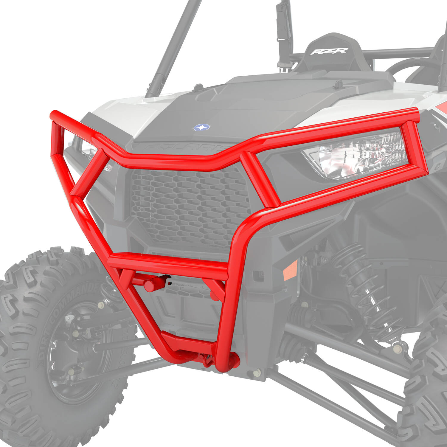 Front Deluxe Bumper- Indy Red