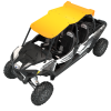 4-Seat Aluminum Roof- Spectra Orange - Image 2 of 4