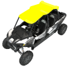 4-Seat Aluminum Roof- Lime Squeeze - Image 2 of 2
