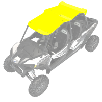 4-Seat Aluminum Roof- Lime Squeeze