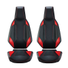 Velocity Street Seats - Black/Red Pearl - Pair - Image 1 of 3