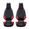 Velocity Street Seats - Black/Rogue Red - Pair - Image 1 of 3