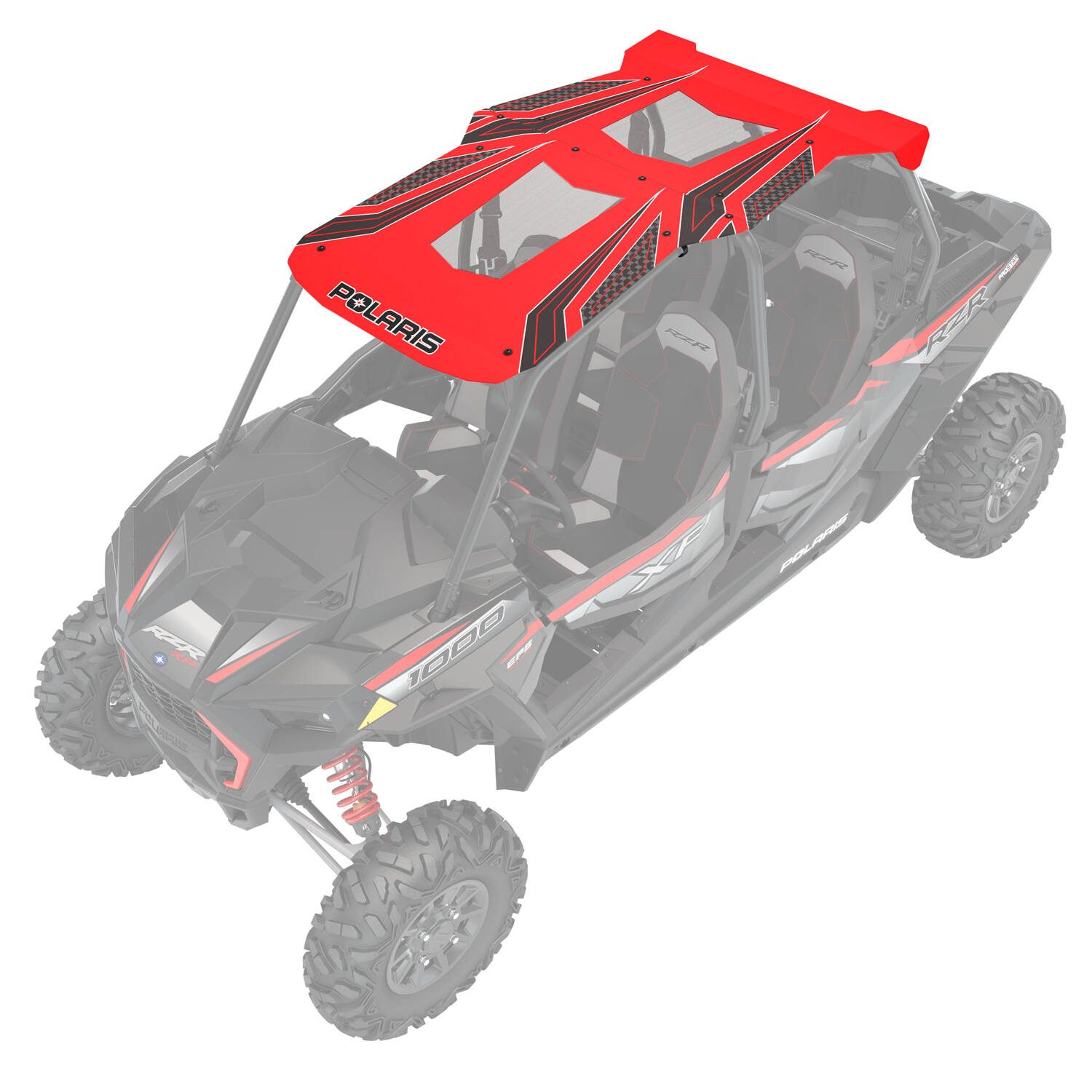 4-Seat Graphic Sport Roof- Red