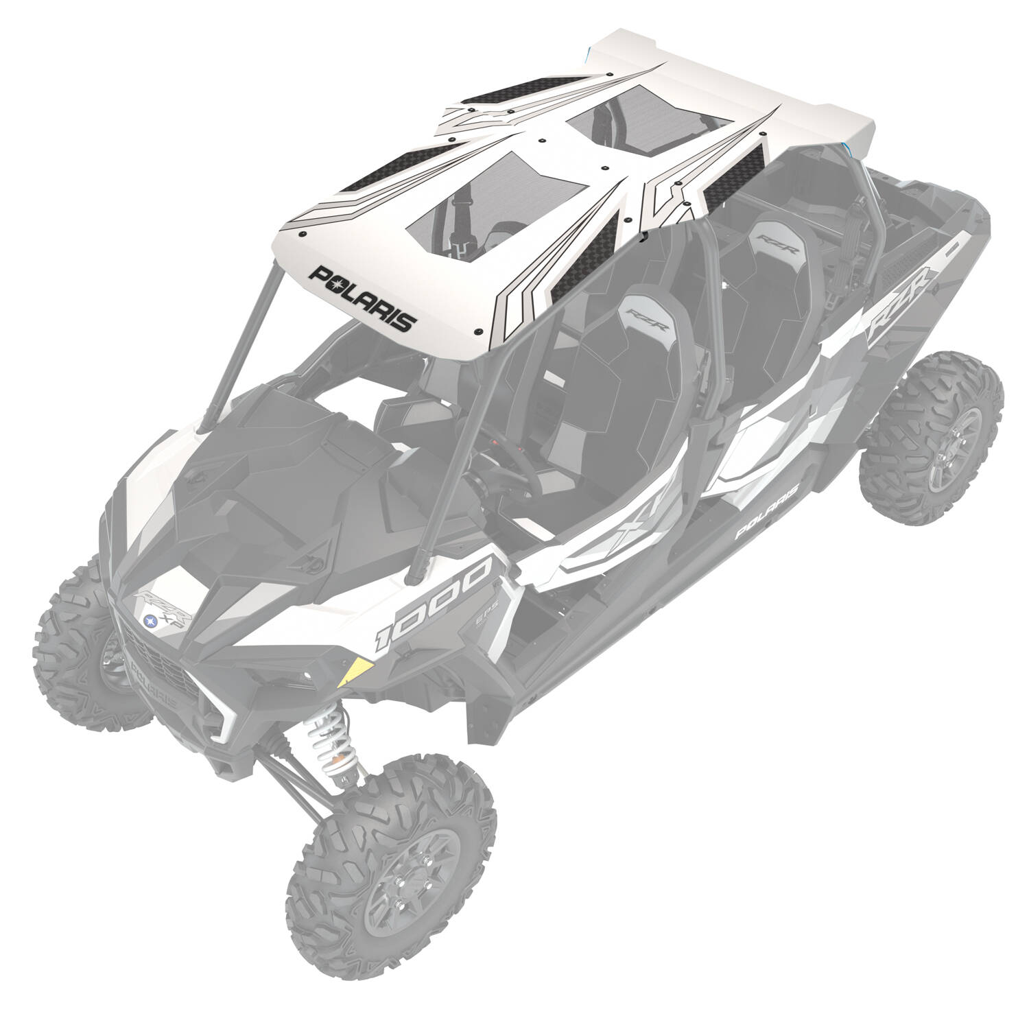4-Seat Graphic Sport Roof- White