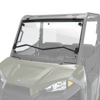 Polycarbonate Flip-Down Full Windshield, Clear