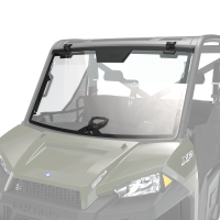 Glass Tip-Out Full Windshield with Three Positions, Clear