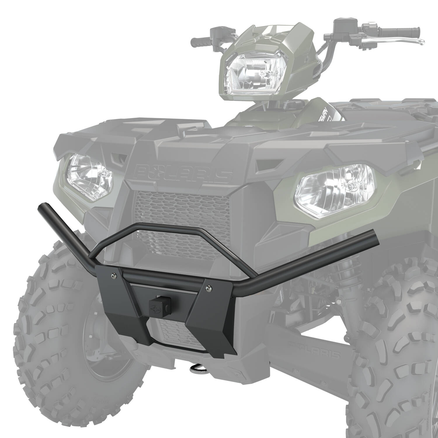 Steel Front Bumper with Mounting Light Holes, Black