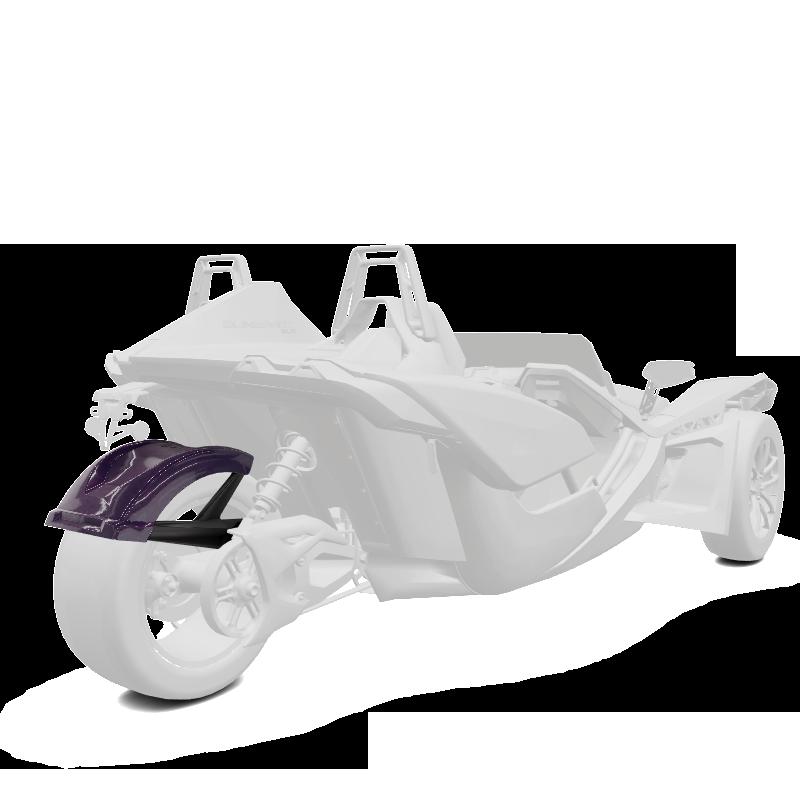 305 mm. Rear Fender - Midnight Purple
