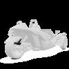 305MM Rear Fender - Monument White - Image 1 of 4