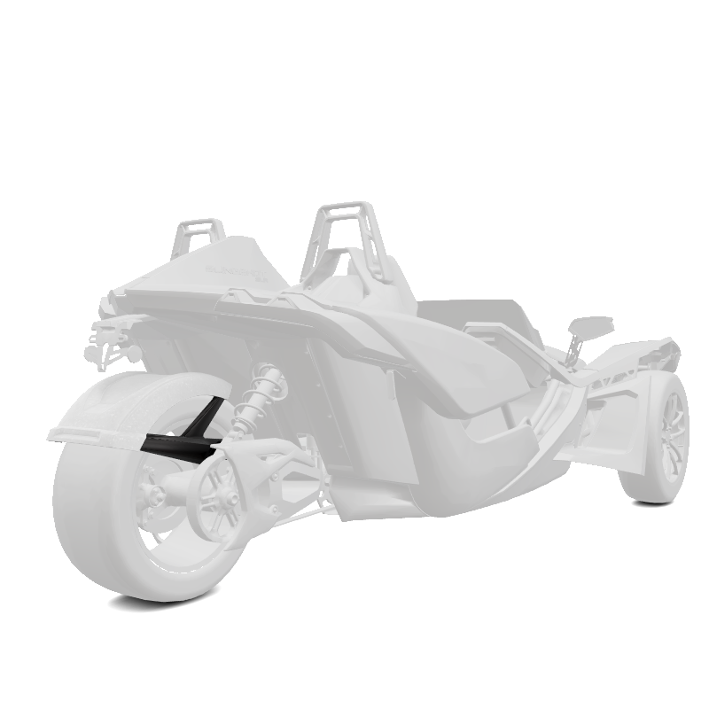 305MM Rear Fender - Monument White