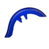 Open Front Fender - Blue Candy with Gold Strip - Image 1 of 3