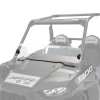 Hard Coat Poly Half Windshield with Lock & Ride® Technology, Clear