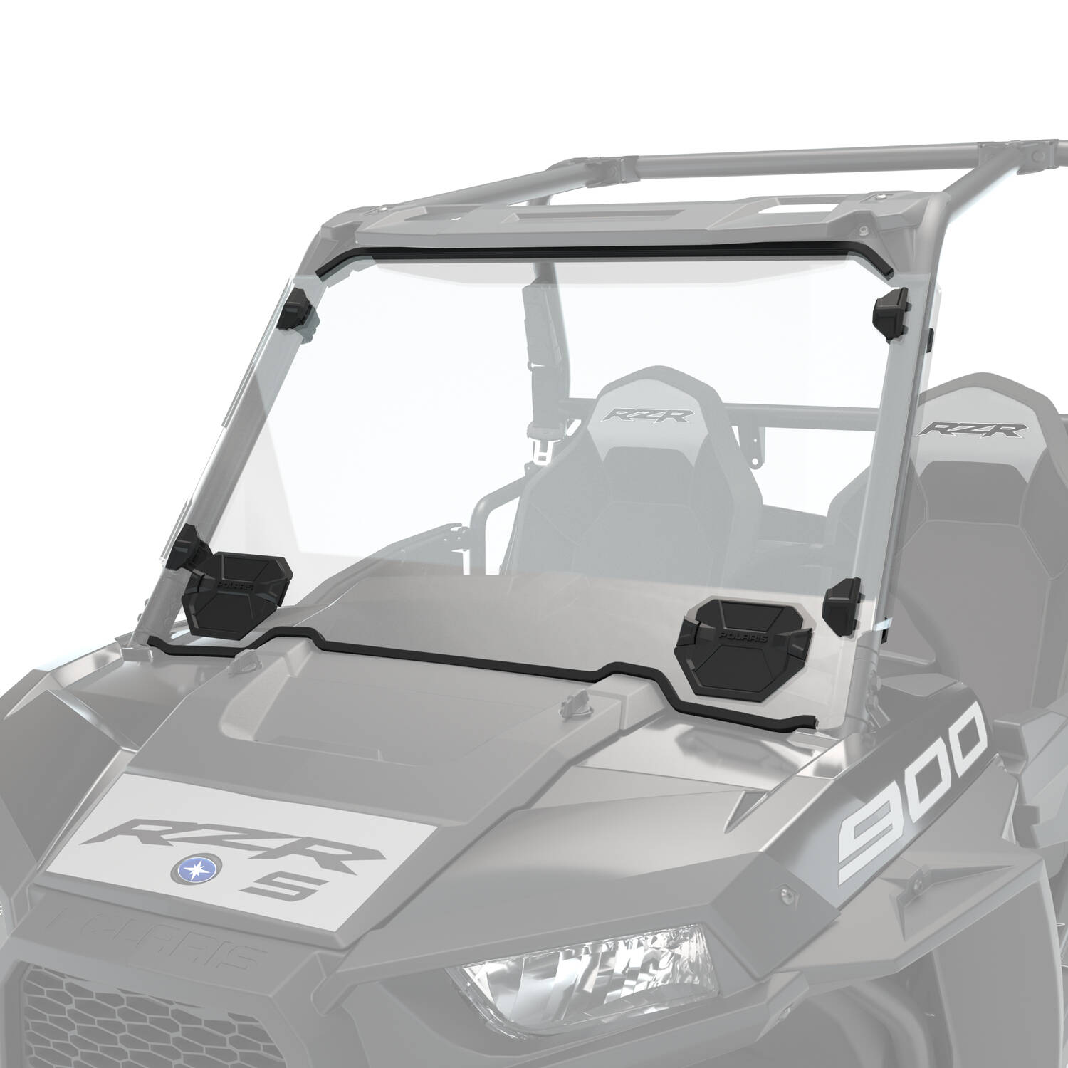 Polycarbonate Vented Full Windshield, Clear